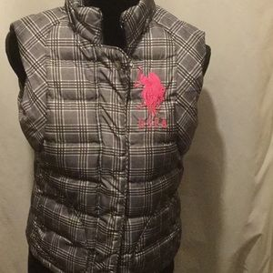 US Polo Assn. plaid quilted vest